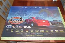 "35""x23"" Mustang Fun Ford Weekend 2003 Racing Schedule Man Cave Garage Poster"