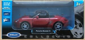 WELLY Collection Porsche Boxster S rouge avec retrofriction metal