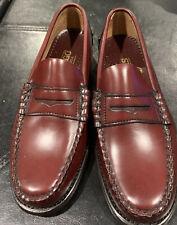 Sebago Handsewns Men's Penny Loafers -BURGUNDY Dress Shoes Size 6.5  D