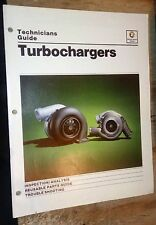 1982 83  DETROIT DIESEL ENGINE TECHNICIAN'S GUIDE TO TURBOCHARGERS FULL COLOR