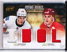 2013/14 PANINI PRIME SEAN MONAHAN & STEVE YZERMAN PLAYER/WORN 157/200