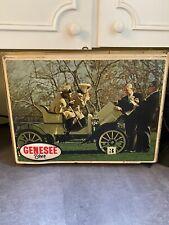 Vintage Genesee Beer Hanging Lighted Sign Automotive Motif Works 20x15