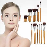 11Pcs Foundation Powder Eyeshadow Shadow Blush Brushes Cosmetic Makeup Brush Set