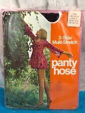 Vintage 70s 1158 Off Black 2 Size Multi Stretch Panty Hose Size A NOS