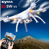 Syma X5SW-V3 WIFI FPV 2.4G 6-Axis RC Quadcopter Drone with HD Camera White RTF