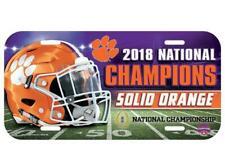Wincraft Clemson Tigers 2018-2019 Football National Champions Chrome Wall Clock