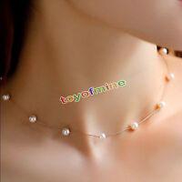 Collar de Mujer Cadena Perla Gargantilla Declaración Babero Joyería Necklace