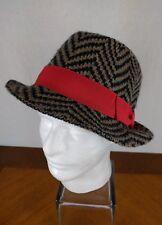 e2c562e5067 BCBGeneration Angora Herringbone Hat Fedora Cap Mod Hipster 60 s Cute  Cosplay