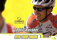 CYCLISME carte cycliste CEDRIC RAVANEL équipe MTB TEAM ORBEA
