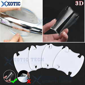 4x 3D Car Door Handle Clear Self-Adhesive Scratch Protective Film Cover Sticker