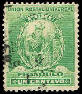 Scott # 142 - 1896 - ' Mango Capac, Founder of Inca Dynasty '