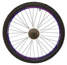 "Trasero Dunlop 24"" bicicleta MTB rueda morado llanta disco hub Inc 6spd"