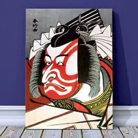 "Classic Japanese Kabuki Art CANVAS PRINT 36x24"" Ichikawa Danjuro Face Kunichika"