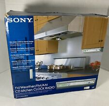 Sony ICF-CD543RM Kitchen Clock Radio Under Cabinet TV Weather FM AM CD W/Remote