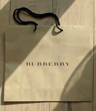 BRAND NEW Genuine Burberry Paper Shopping Paper Carrier Beige Bag 23 x 20 x 9cm
