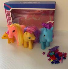 Lot Hasbro 2002 My Little Pony G3 Family Set Accessories Yellow Pink Blue Purple