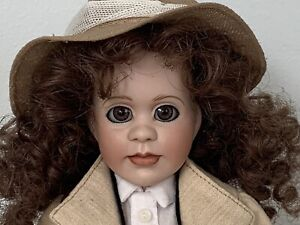 """Wendy Lawton African Safari 11"""" porcelain doll from Grand Tour collection"""