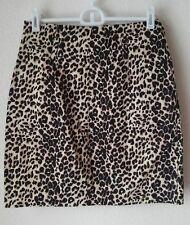 Leopard Pencil Skirt Women's 21 TwentyOne Cotton Spandex Animal Print S Small