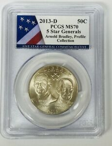 2013-D 5 Star Generals Profile Collection 50c  PCGS MS70