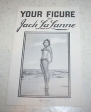 vintage 1953 Your Figure by Jack LaLanne booklet w/ Shirley Kilpartrick exercise
