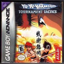 GBA Yu Yu Hakusho Tournament Tactics, Brand New & Factory Sealed