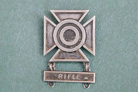 VTG Sterling Silver US ARMY Sharpshooter Weapons Qualification badge Rifle 138