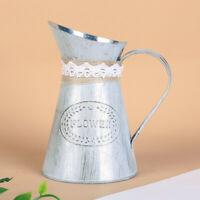 Container Jug Vase Flower Stand Table Pot Iron Sheet Centerpiece Pitcher