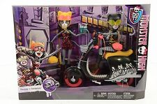 Monster High, Meowlody and Purrsephone, Werecats with Scooter, Rare Exclusive