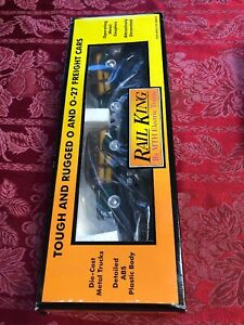 MTH RailKing Auto Transport Flat Car 2 1940 Woody Wagons 30-7662 New