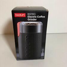 New Bodum Bistro Electric Coffee Grinder Black