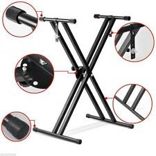 Professional Height Adjustable Folding X Type Double-braced Keyboard Stand