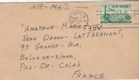 U.S. New York Cancel 1949 Church St Slogan Airmail Stamp Cover to France Rf44552