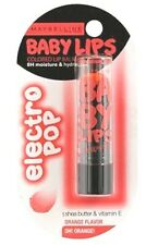 Orange Flavour Oh Orange Electro Pop Maybelline Baby Lips Balm Shea Butter Vit.E