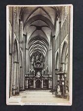 Victorian Cabinet Card: Bruges (Belgium): Interior of Saint-Sauveur Cathedral