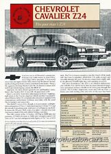 1986 Chevrolet Cavalier Z24 Original Car Review Print Article J680