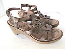 2c8e90d872db Easy Spirit sandals Merryola 10M brown heels adjustable ankle strap shoes  women