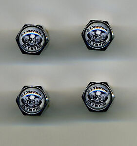 Lynyrd Skynyrd 4 Chrome Plated Brass Tire Valve Caps Car or Bike Lynyrd Skynyrd