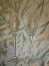 Golden Wedding Anniversary Champagne Flutes ( no box)
