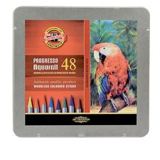 KOH-I-NOOR PROGRESSO AQUARELL WOODLESS WATER SOLUBLE PENCILS - Tin of 48 colours