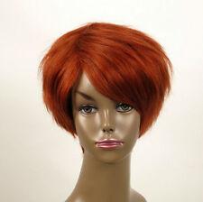 perruque afro femme 100% cheveux naturel courte cuivré intense ref WHIT 03/130