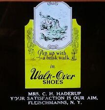 Walk-over Shoes Advertisement, Fleischmanns, New York, Magic Lantern Glass Slide