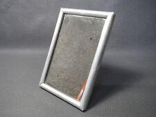 Ancien petit miroir de poche ou salle de bain vintage cadre alu à poser vintage