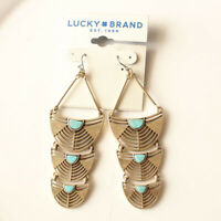 New Lucky Brand Geometric Drop Dangle Earrings Gift Vintage Women Party Jewelry