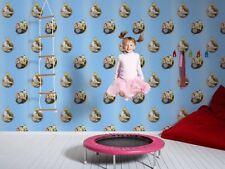 """94182-2-4) 5 Rollen hochwertige Kinderzimmer Papier Tapeten """"Die Biene Maja"""""""