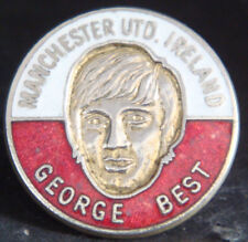 MANCHESTER UNITED & GEORGE BEST Rare vintage badge Brooch pin In gilt 25mm Dia