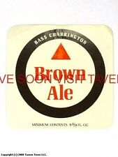 1960s England Bass Charrington Brown 9 2/3oz Ale label Tavern Trove