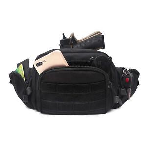 Tactical Multipurpose Carry Gun Holster Fanny Pack Pistol Cases Pouch Waist Bag
