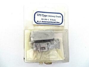 N Scale N.J. International Inc. UPS Delivery Truck KIT 104 New Old Stock NoRes f