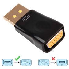 Black Displayport DP to VGA Adapter Converter