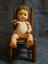 """Vintage 1950'S 11"""" Tiny Tears American Character Doll rubber body orig romper"""